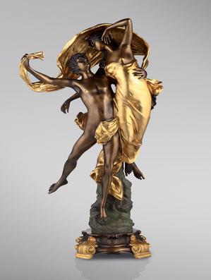 Итальянская бронзовая статуя Love in the wind фабрики Fonderia Artistica Ruocco