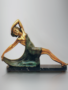 Итальянская бронзовая статуя Woman dancer фабрики Fonderia Artistica Ruocco