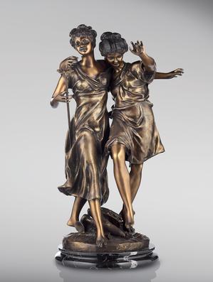 Итальянская бронзовая статуя Tarantella фабрики Fonderia Artistica Ruocco