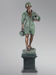 Итальянская бронзовая статуя Ancello фабрики Fonderia Artistica Ruocco