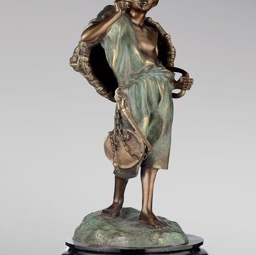 Итальянская бронзовая статуя Seller of Figs фабрики Fonderia Artistica Ruocco
