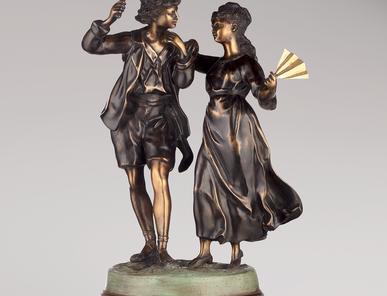 Итальянская бронзовая статуя Venetian dance фабрики Fonderia Artistica Ruocco