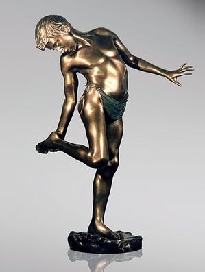 Итальянская бронзовая статуя Delotto фабрики Fonderia Artistica Ruocco