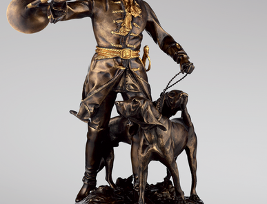 Итальянская бронзовая статуя The Hunt фабрики Fonderia Artistica Ruocco