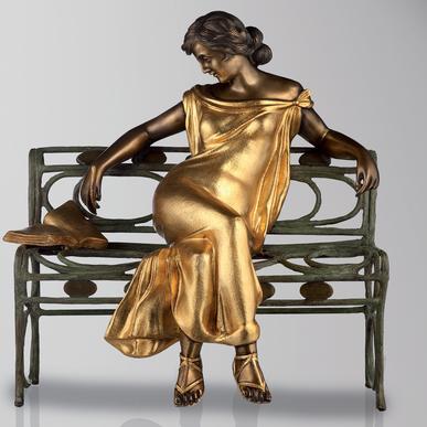 Итальянская бронзовая статуя Maria Lopez фабрики Fonderia Artistica Ruocco