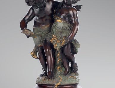 Итальянская бронзовая статуя Cupids фабрики Fonderia Artistica Ruocco
