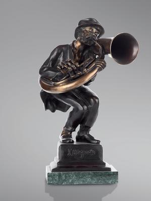 Итальянская бронзовая статуя Trumpeter фабрики Fonderia Artistica Ruocco