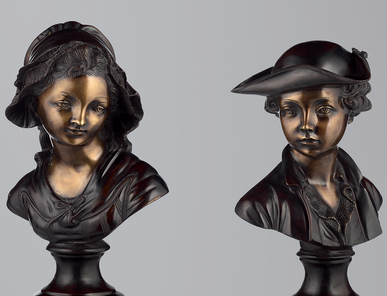 Итальянская бронзовая статуя French busts фабрики Fonderia Artistica Ruocco