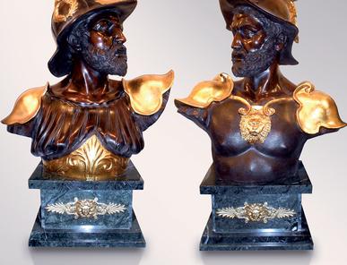 Итальянская бронзовая статуя Warriors busts фабрики Fonderia Artistica Ruocco