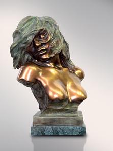 Итальянская бронзовая статуя Woman in the wind фабрики Fonderia Artistica Ruocco