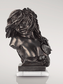 Итальянская бронзовая статуя Woman in the wind I фабрики Fonderia Artistica Ruocco