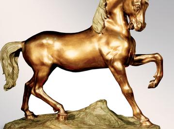 Итальянская бронзовая статуя Wild horse фабрики Fonderia Artistica Ruocco
