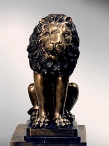 Итальянская бронзовая статуя Sitted lion фабрики Fonderia Artistica Ruocco