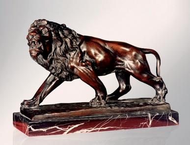 Итальянская бронзовая статуя Lion фабрики Fonderia Artistica Ruocco