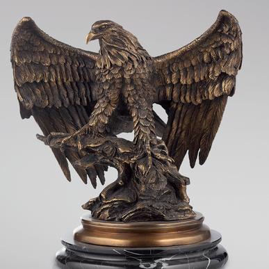 Итальянская бронзовая статуя Eagle фабрики Fonderia Artistica Ruocco