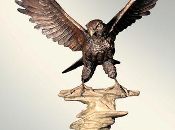 Итальянская бронзовая статуя Hawk фабрики Fonderia Artistica Ruocco