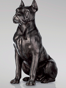Итальянская бронзовая статуя Boxer dog фабрики Fonderia Artistica Ruocco
