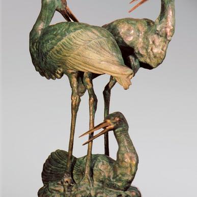 Итальянская бронзовая статуя Herons group фабрики Fonderia Artistica Ruocco