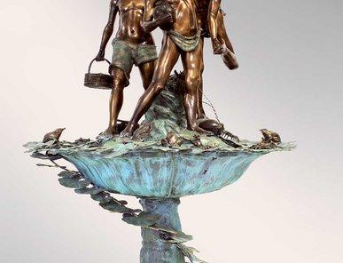 Итальянский бронзовый фонтан Fishermen фабрики Fonderia Artistica Ruocco
