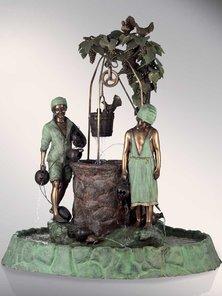 Итальянский бронзовый фонтан Fountain with water well фабрики Fonderia Artistica Ruocco