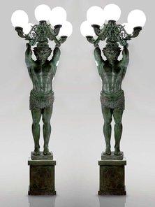 Итальянские бронзовые статуи Telamons фабрики Fonderia Artistica Ruocco