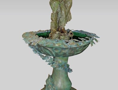 Итальянский бронзовый фонтан Rebecca with amphora fountain фабрики Fonderia Artistica Ruocco