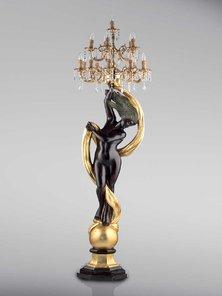 Итальянские бронзовые канделябры Venus on globe фабрики Fonderia Artistica Ruocco