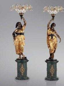 Итальянские бронзовые канделябры Gitane фабрики Fonderia Artistica Ruocco