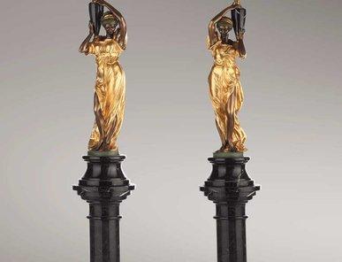 Итальянские бронзовые канделябры Damsels with chandelier фабрики Fonderia Artistica Ruocco