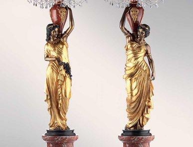 Итальянские бронзовые канделябры Neoclassical damsels I фабрики Fonderia Artistica Ruocco
