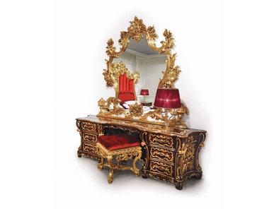 Итальянский туалетный стол F973/A (в золотом оформлении) фабрики BAZZI