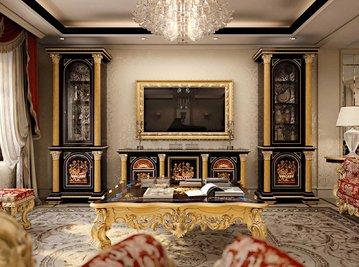 Итальянская мебель для ТВ SHANGHAI фабрики BAZZI