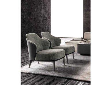 Итальянское кресло LESLIE фабрики MINOTTI