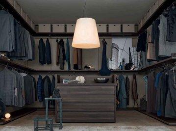 Итальянская гардеробная CABIN-1 фабрики GIELESSE