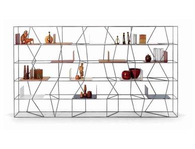 Итальянский книжный шкаф Lexington 04 фабрики BONTEMPI CASA