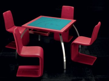 Итальянский игровой столик POKER фабрики TONINO LAMBORGHIN