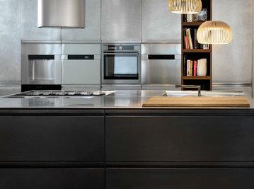 Итальянская кухня MONOLIT 45° OXIDE BRONZO фабрики XERA