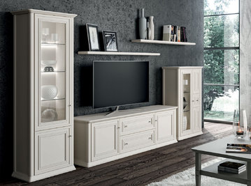 Итальянская мебель для ТВ ROMANTICA фабрики SELVA TIMELESS