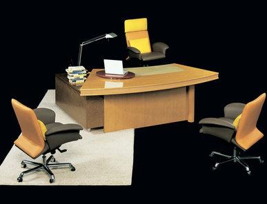 Итальянский письменный стол Ruthy scrivania curva фабрики IL LOF