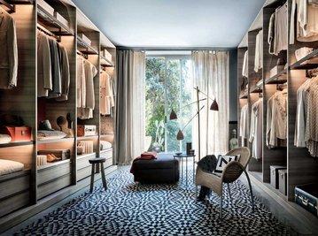 Итальянская гардеробная Open фабрики Lema