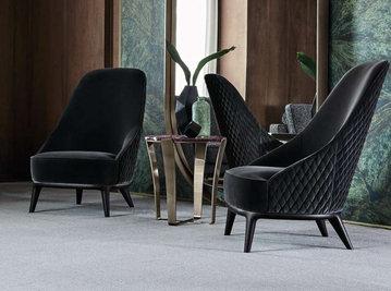 Итальянское кресло LESLIE фабрики ANGELO CAPPELLINI