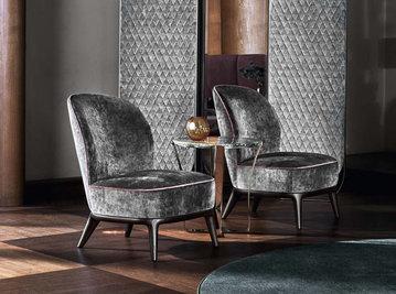 Итальянское кресло NICOLE фабрики ANGELO CAPPELLINI