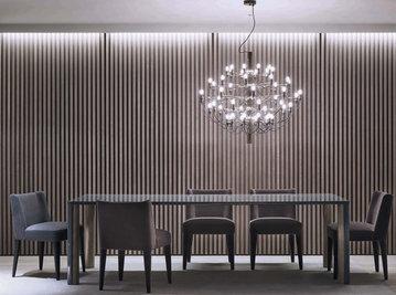 Итальянский стол и стулья SPENCER фабрики MERIDIANI