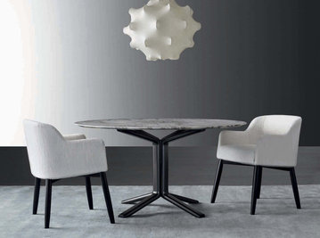 Итальянский стол и стулья MILLER фабрики MERIDIANI