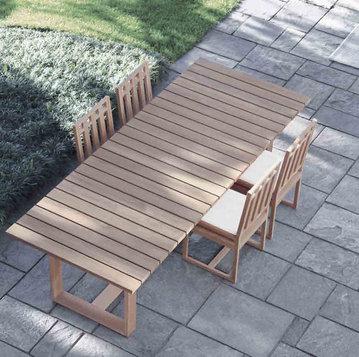 Итальянский стол и стулья SQUARE фабрики MERIDIANI