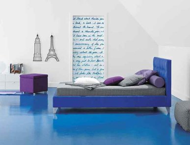 Итальянская детская кровать Max Capitonnè фабрики TWILS