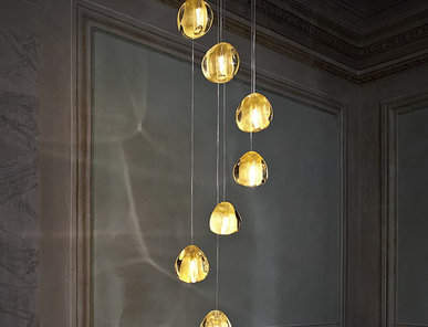 Итальянская люстра Mizu Clear/Gold 0R01S E8 A4 фабрики TERZANI