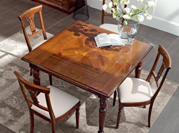 Итальянский стол и стулья Quadro фабрики LE FABLIER