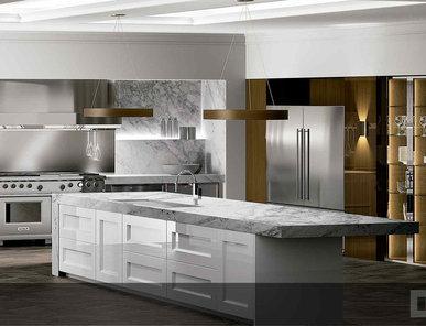 Испанская кухня Timeless Blanco Brillo Elegance Lira Transparente фабрики DOCA