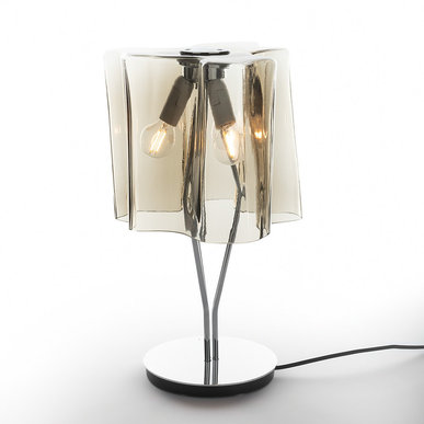 Итальянская настольная лампа Logico Fumé/Chrome фабрики ARTEMIDE